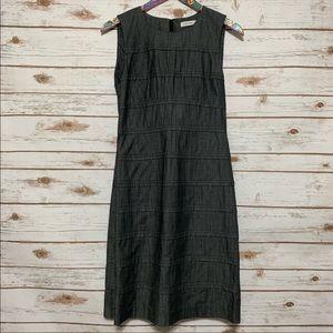 Calvin Klein gray scoop neck sleeveless Dress